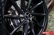 Mercedes CLA250 на дисках Vossen CVT