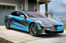 Tesla Model S на дисках TSW BATHURST