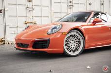 Porsche Targa 4S на кованых дисках Vossen Forged LC-105T