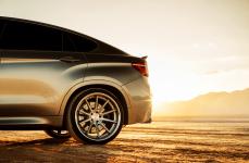 BMW X6M на дисках Ferrada FR4 Machine Silver
