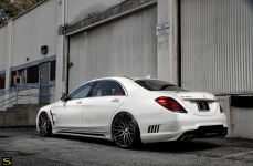 Mercedes Benz S550 на дисках Savini BM13
