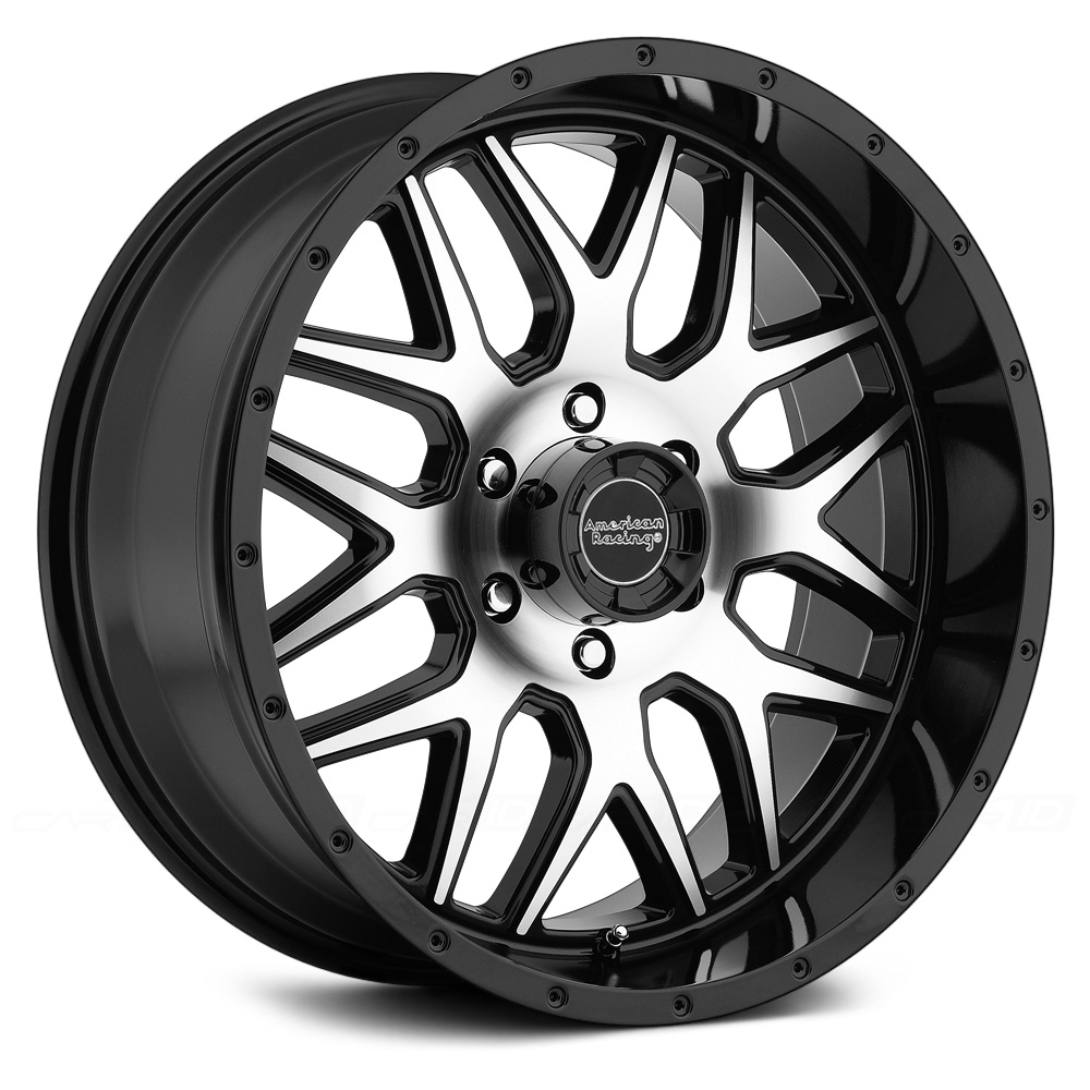 AMERICAN RACING AR910 Gloss Black with Machined Face