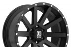 KMC XD SERIES XD818 HEIST Satin Black with Milled Flange
