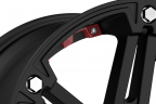 TUFF T01 Flat Black with Red Accents