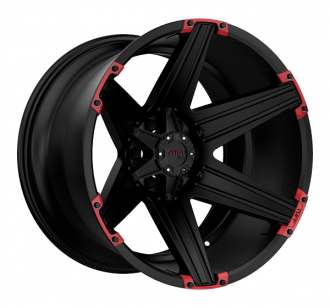 TUFF - T12 Satin Black with Red Inserts