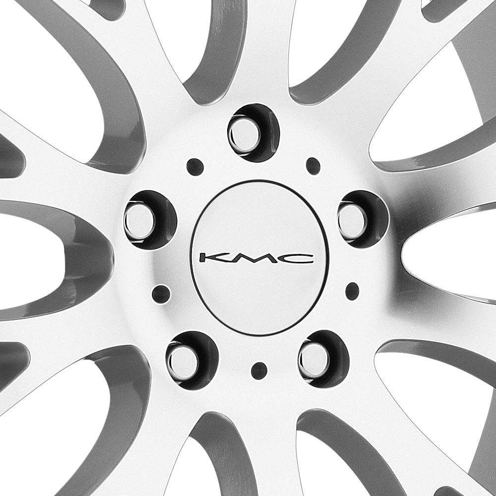 KMC KM693 MAZE Silver with Machined Face