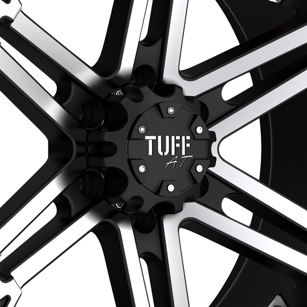 TUFF T01 Flat Black with Machined Face