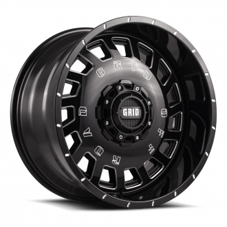 GRID OFF-ROAD - GD-3 Gloss Black Milled
