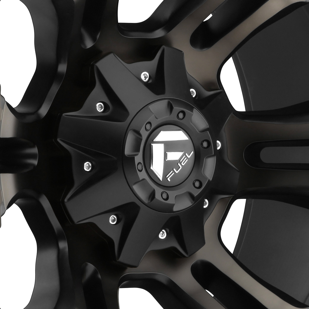 FUEL VAPOR Black with Machined Face and Double Dark Tint
