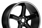 MOTEGI RACING MR122 Satin Black with Machined Groove