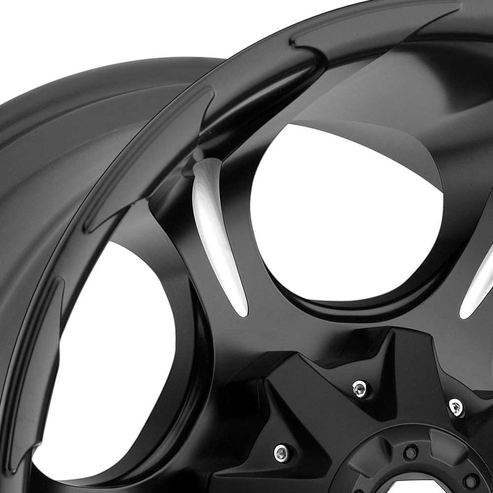 FUEL DUNE DEEP LIP Black with Milled Spokes