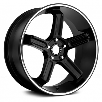 MOTEGI RACING - MR122 Satin Black with Machined Groove