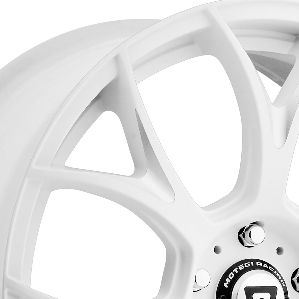 MOTEGI RACING MR126 Matte White with Milled Accents
