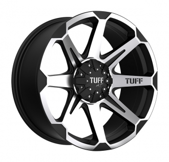 TUFF - T05 Flat Black with Machined Face