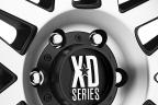 KMC XD SERIES XD128 MACHETE Satin Black with Machined Face