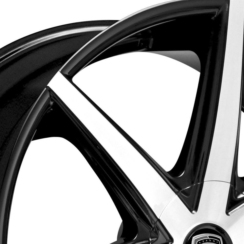 LEXANI R-SEVEN Gloss Black with Machined Face