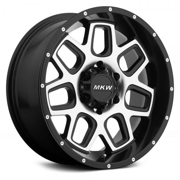 MKW OFF-ROAD M92 Satin Black with Machined Face