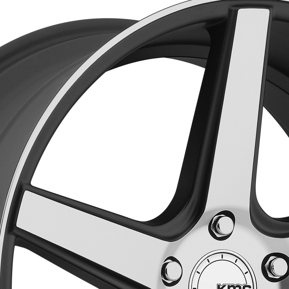 KMC KM685 DISTRICT Satin Black with Machined Face