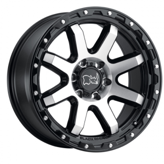 BLACK RHINO - COYOTE Gloss Black with Machined Face & Stainless Bolts