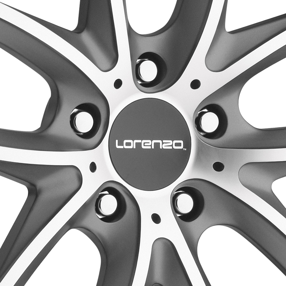 LORENZO WL199 Titanium Gray with Machined Face and SS Lip