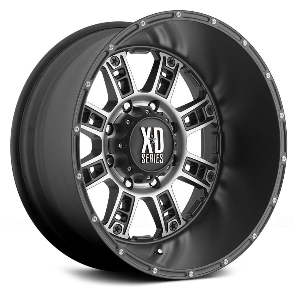 KMC XD SERIES XD809 RIOT Matte Black with Machined Face