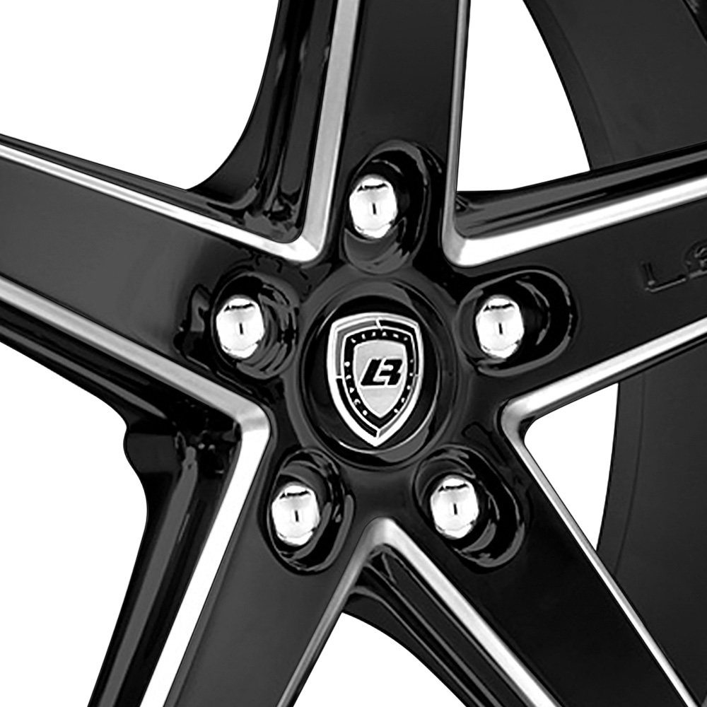 LEXANI R-FOUR Gloss Black with Machined Accents and Exposed Lugs