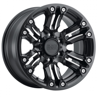 BLACK RHINO - ASAGAI Matte Black with Machined Spoke & Stainless Bolts