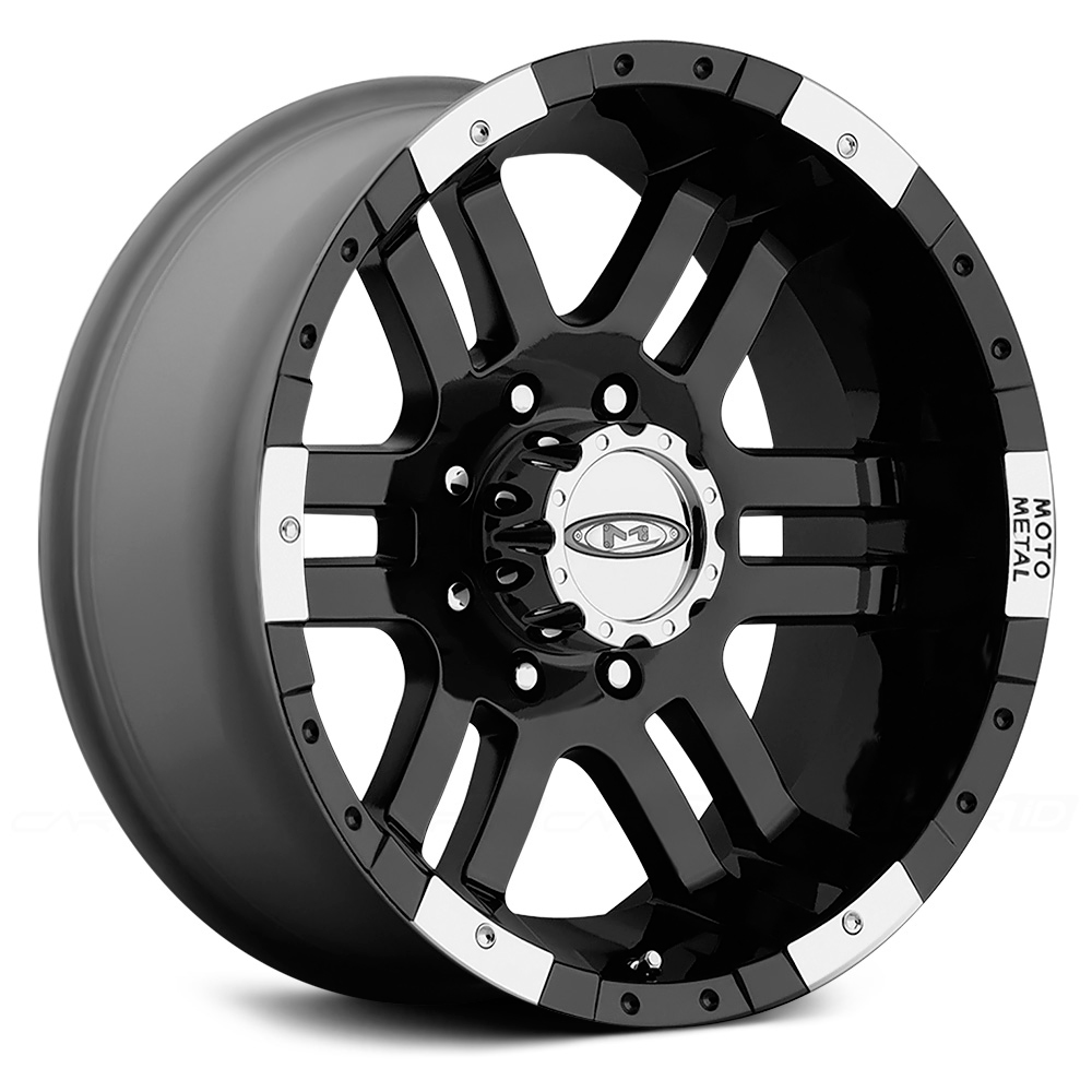MOTO METAL MO951 Gloss Black with Machined Bezel