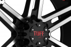 TUFF T01 Flat Black with Machined Face and Red Inserts
