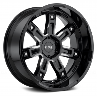 BLACK RHINO - LOCKER Gloss Black with Milled Spokes