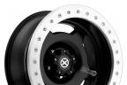 ATX SERIES AX756 SLAB Satin Black with Silver Beadlock
