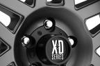 KMC XD SERIES XD128 MACHETE Matte Gray with Black Bead Ring