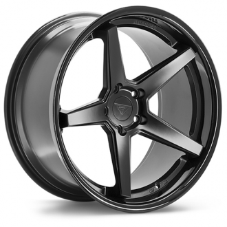 FERRADA - FR3 Matte Black with Gloss Black Lip
