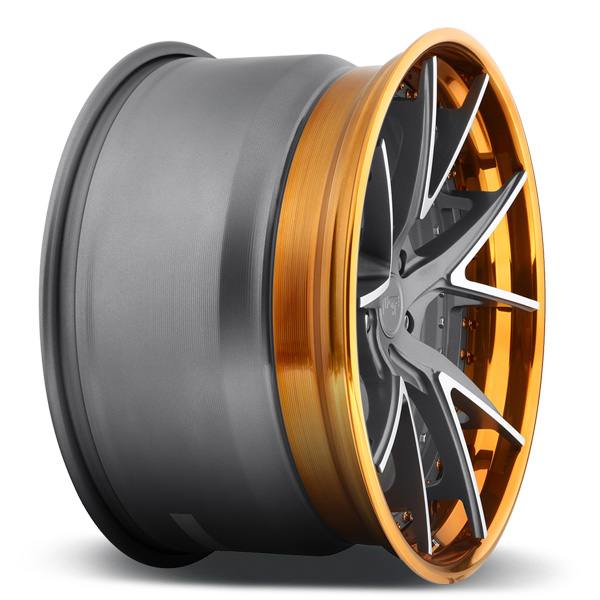 NICHE IBIZA Textured Gun Metal/Brushed Elevated Spokes/Trans Copper