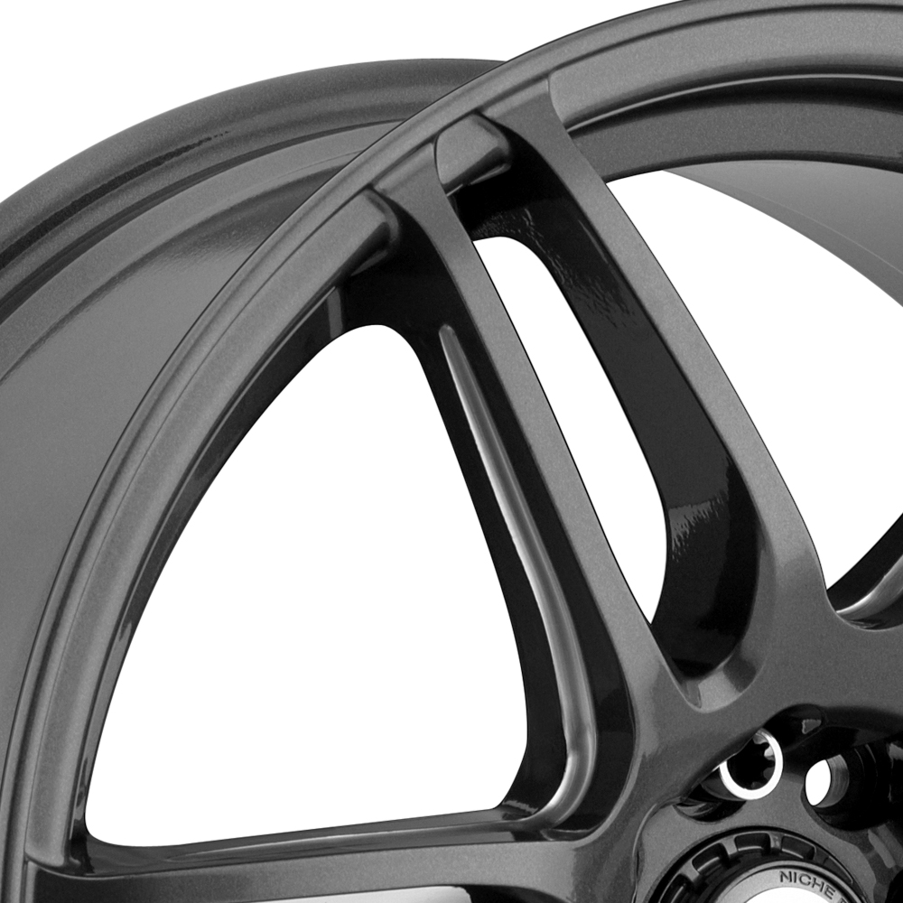 NICHE NR6 Anthracite with Milled Spokes