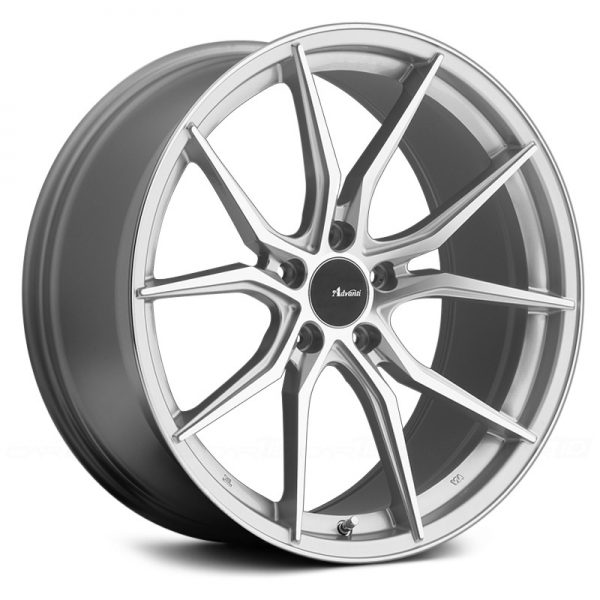 ADVANTI RACING HYBRIS Silver with Machined Face