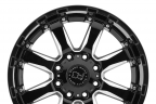 BLACK RHINO SIERRA Gloss Black with Milled Spokes