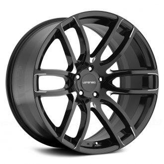 LORENZO - WL36 Gloss Black with Milled Accents