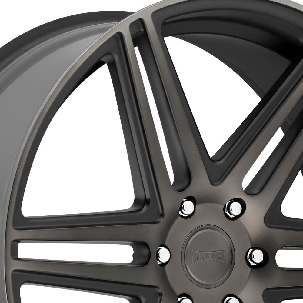 DUB SKILLZ Black with Machined Face and Dark Tint