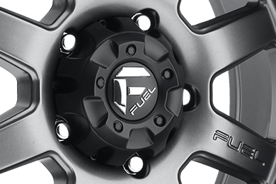 FUEL TROPHY BEADLOCK Graphite with Matte Black Bead Ring