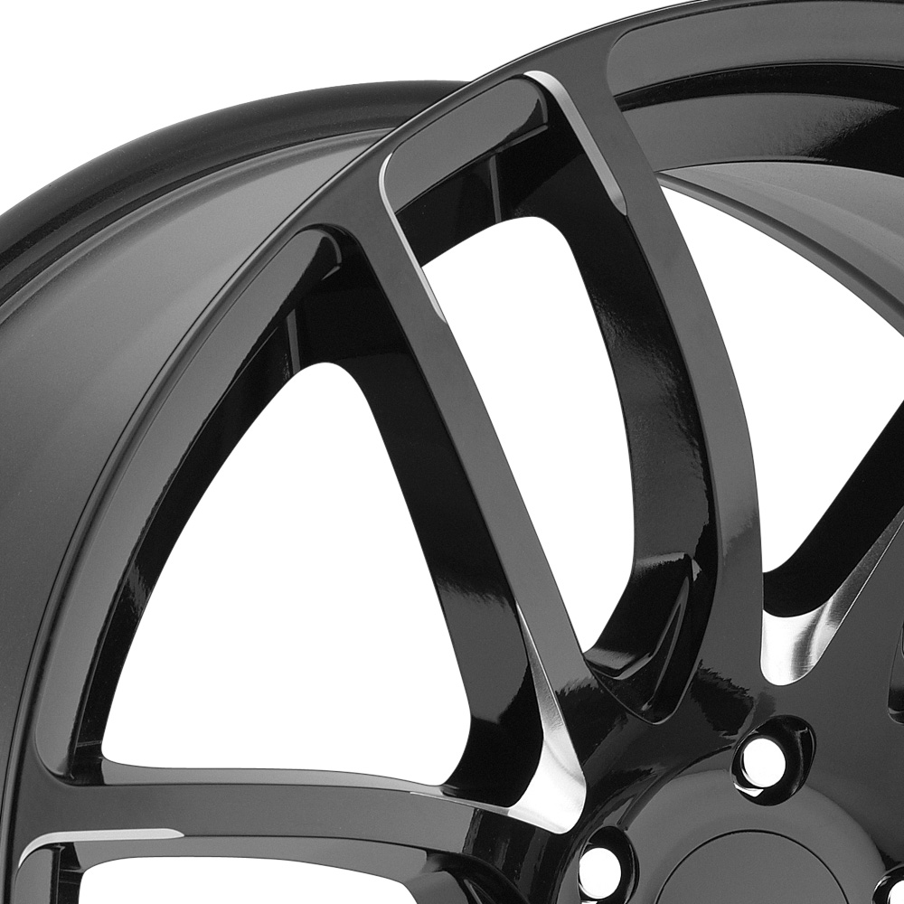 LORENZO WL36 Gloss Black with Milled Accents