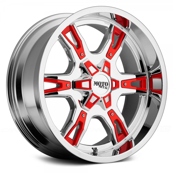 MOTO METAL MO969 Chrome with Black and Red Accents