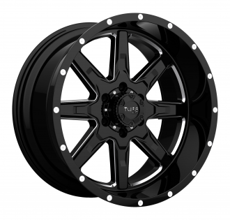 TUFF - T15 Gloss Black with Milled Spokes