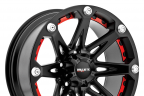 BALLISTIC JESTER Flat Black with Red Inserts