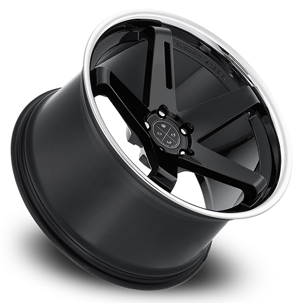 BLAQUE DIAMOND BD-21 Gloss Black with Chrome Lip