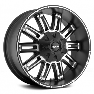 MKW OFF-ROAD - M80 Satin Black with Machined Face and Groove