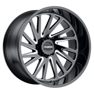 TUFF - T2A Gloss Black with Milled Spokes
