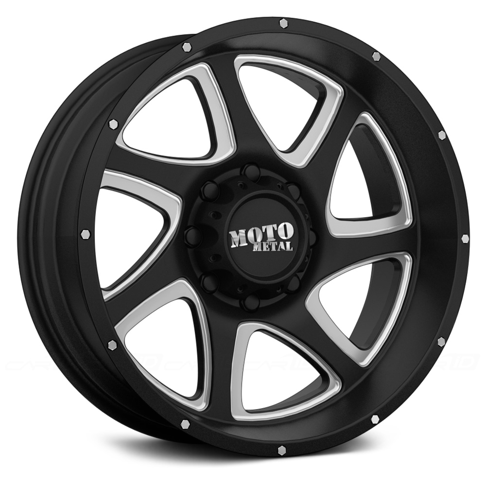 MOTO METAL MO976 Satin Black with Milled Accents