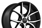 KMC KM694 WISHBONE Satin Black with Machined Face