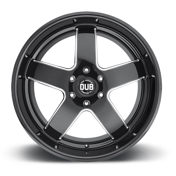 DUB BIG BALLER Gloss Black with Milled Accents